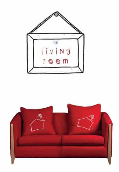 Broxtowe Youth Homelessness - livingroom
